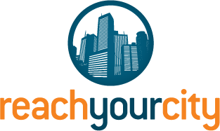 Book us through Reach Your City – Click logo